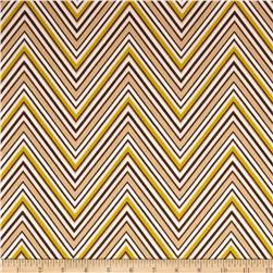 Georgette Home Decor Chevron Brown/Chartreuse