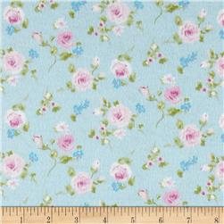 Rose Garden Flannel Blue