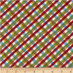 Happy Campers Diagonal Plaid Multi
