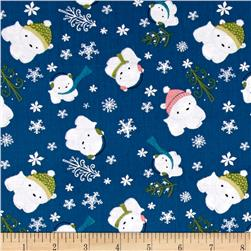 Winter Wonderland Polar Bears Blue