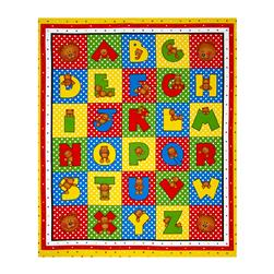 "Alpha-Bears Alphabet 35"" Panel Multi"