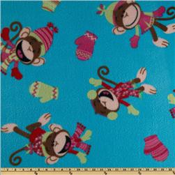 Fleece  Monkeys Blue