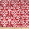 Riley Blake Flannel Medium Damask Red