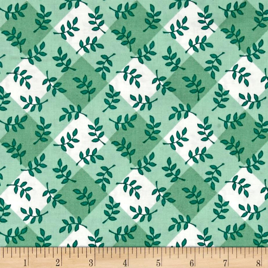 Mary Engelbreit Leaf Plaid Mint
