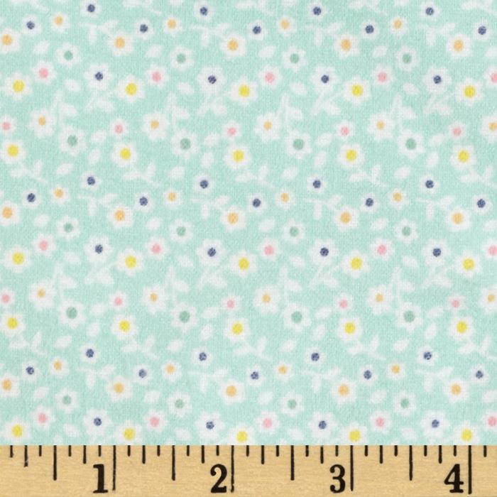 Riley Blake A Beautiful Thing Flannel Floral Blue