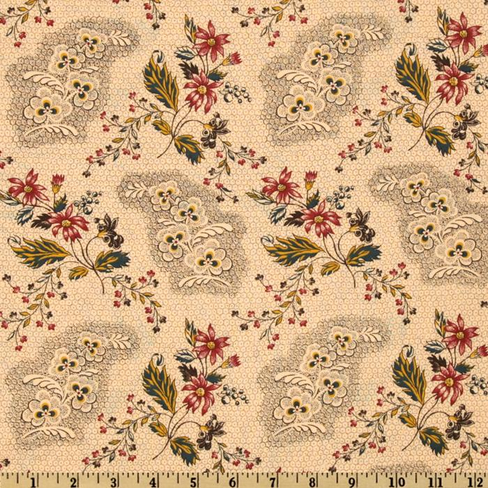 108'' Old Sturbridge Village Collection Quilt Backing Multi/Natural