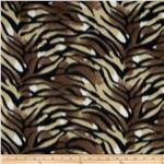 Printed Fleece Tiger Allover Brown