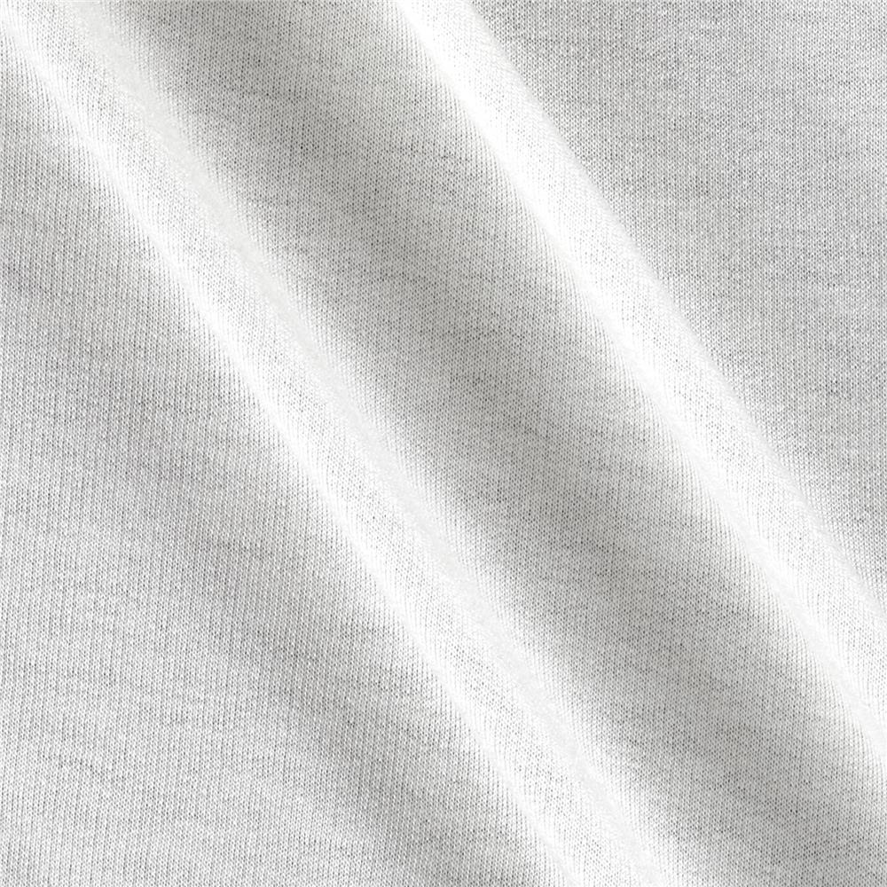 French Terry Knit Solid Off White