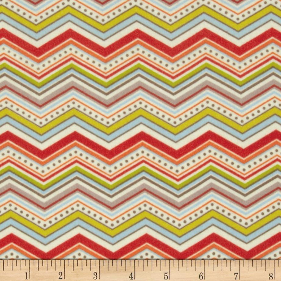 Riley Blake One For The Boys Flannel Chevron