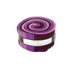 "Robert Kaufman Kona Solids Fancy Floral 2.5"" Jelly Roll"