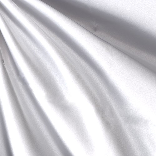Sweetheart Satin White Fabric