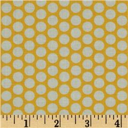 Riley Blake Honeycomb Dot Yellow/White Fabric