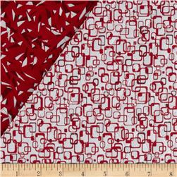 Graphix 3 Quilted Link Squares Red