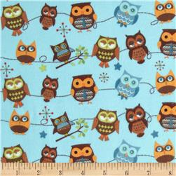 Riley Blake Hooty Hoot Returns Flannel Roll Call