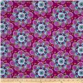 Day Of The Dragonfly Large Floral Purple