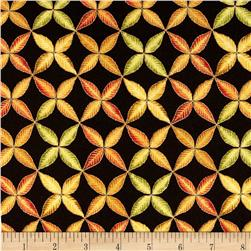 Shades of the Season Metallic Leaf Trellis Autumn Black