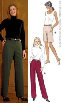 Kwik Sew Misses Pants & Shorts Pattern