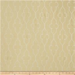 Fabricut Faux Dupioni Silk Akers Lattice Buttercream
