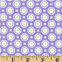 Moda Hi De Ho Fancy Dots Purple