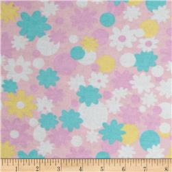 Newcastle Flannel Minnie Floral Pink Fabric