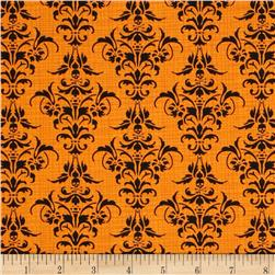 Chillingsworth Skull Damask Orange