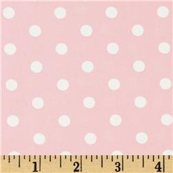 Pimatex Basics Polka Dots Pale Pink Fabric