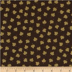 Harvest Bounty Small Leaves Dark Brown