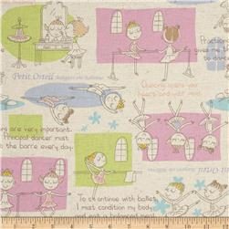 Kokka Trefle Margaret the Ballerina Patchwork Natural
