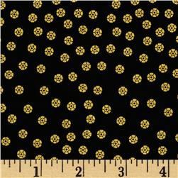 Timeless Treasures Lux Metallic Dots Black