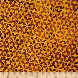 Lonni Rossi Batiks Pinwheels Orange Fabric