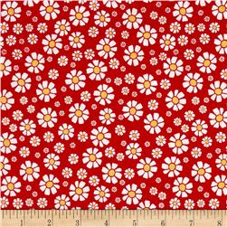 Penny Rose Shabby Strawberry Daisy Red