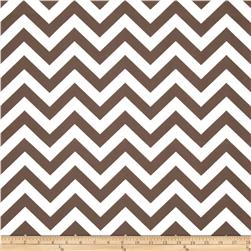 Premier Prints Zig Zag Drew Italian Brown Fabric