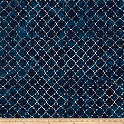 Timeless Treasures Tonga Batik Indigo Dreams Moroccan Tile Deep