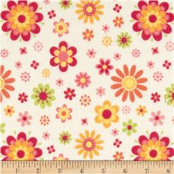 Riley Blake Just Dreamy 2 Flannel Floral Cream