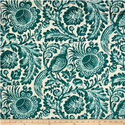 Waverly Tucker Resist Blend Teal Fabric