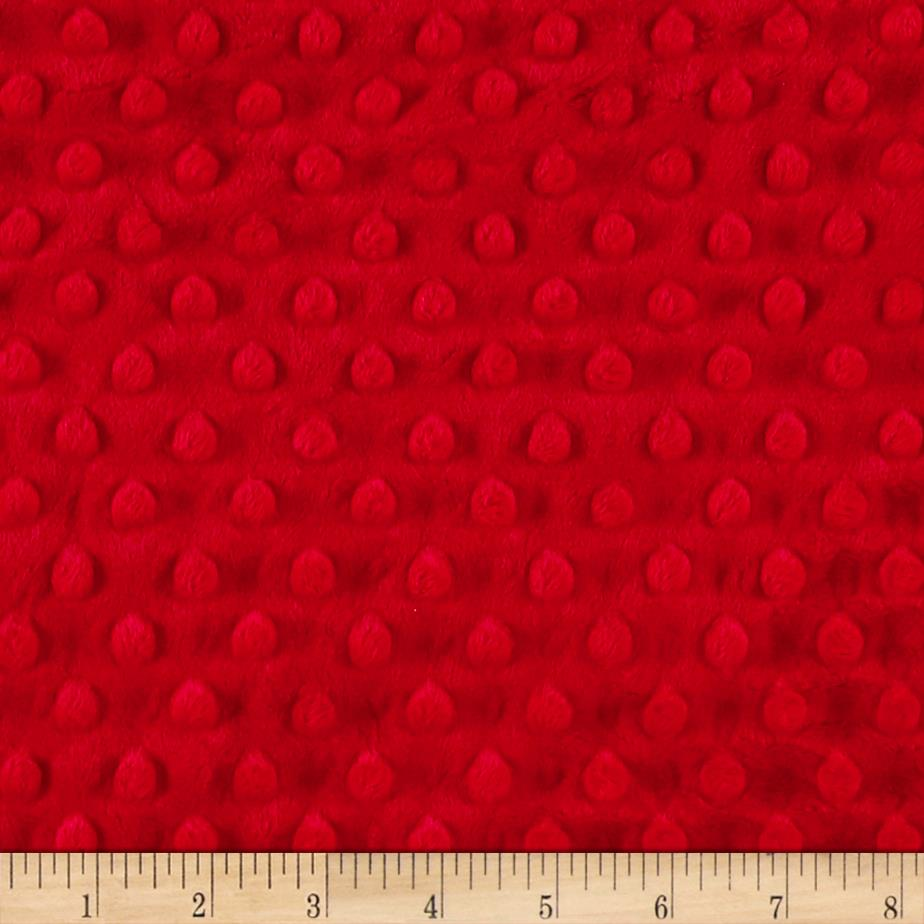 Michael Miller Minky Solid Dot Cherry Red