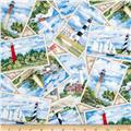 Lighthouses Postcards Cream