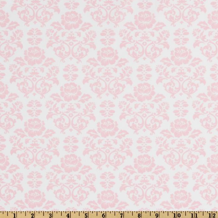 Pimatex Basics Damask Baby Pink/White