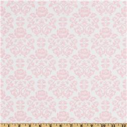 Pimatex Basics Damask Baby Pink/White Fabric