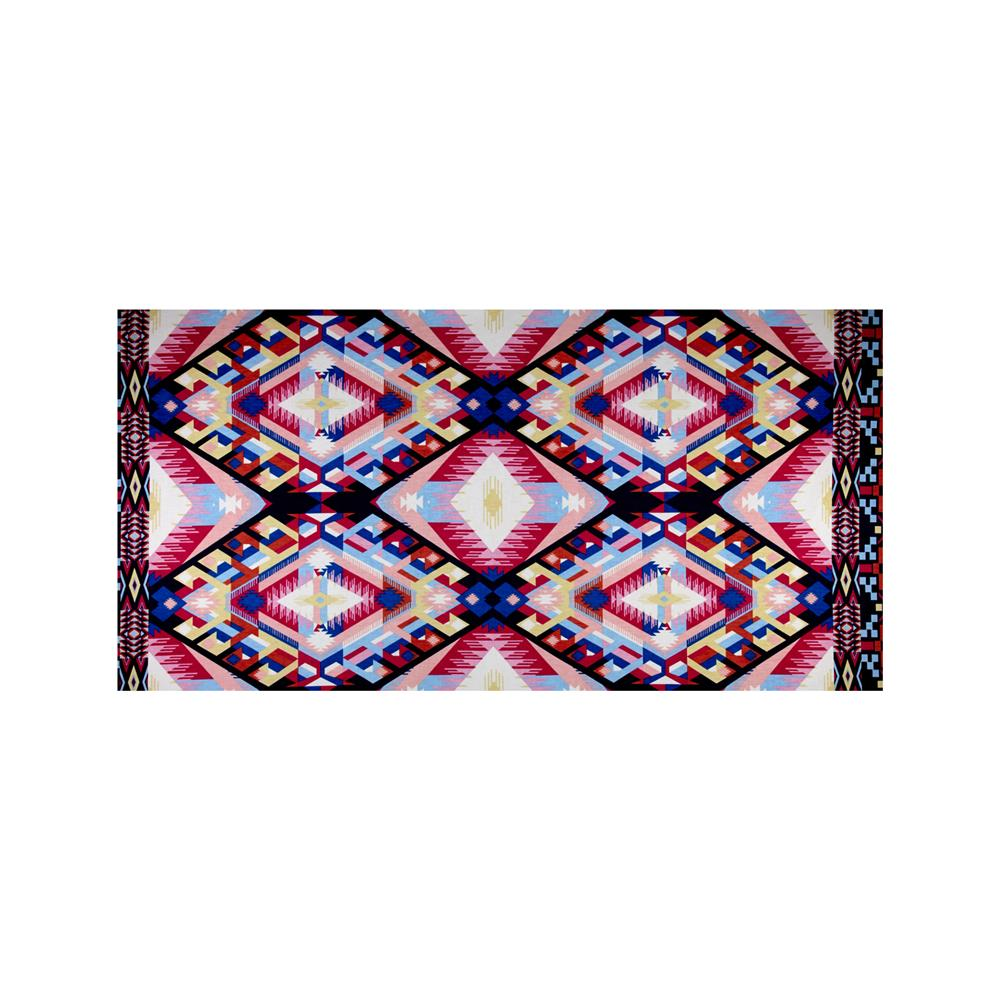 Stretch ITY Jersey Knit Abstract Aztec Pink
