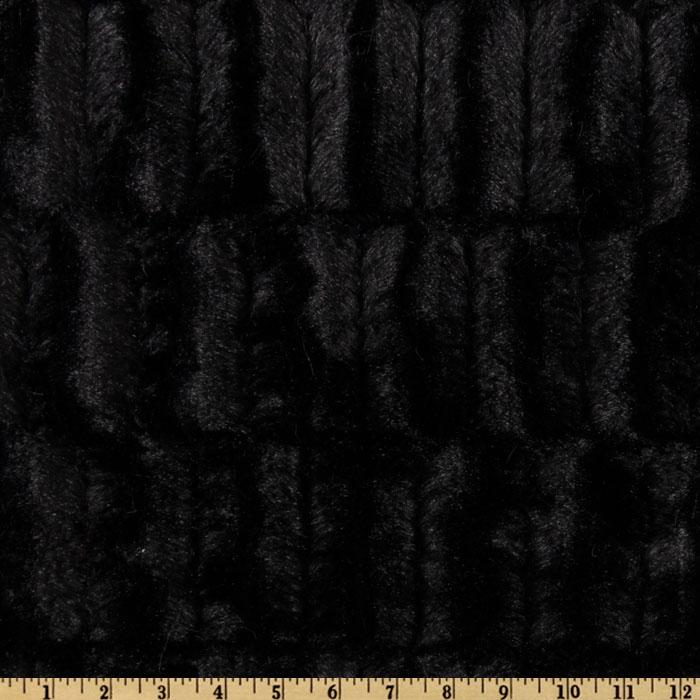 Minky Embossed Groovy Cuddle Black