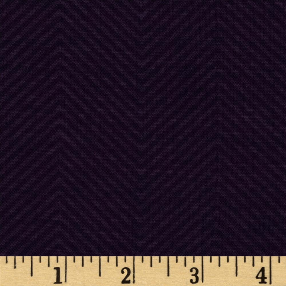 Shadow Ponte De Roma Knit Chevron Plum