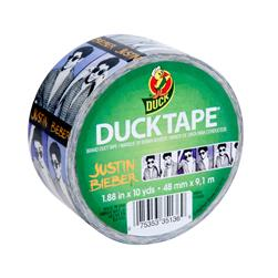 "Licensed Duck Tape 1.88"" x 10yd-Justin Bieber"