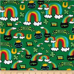 Timeless Treasures Pot O'Gold Green