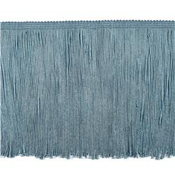 "6"" Chainette Fringe Trim Light Blue"