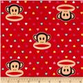 Paul Frank Julius Interlock Knit Mini Hearts Red