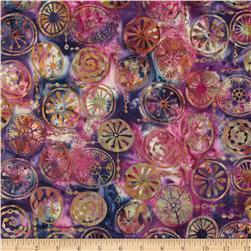 Bali Batiks Handpaints Mod Circles Bloom Fabric