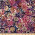 Bali Batiks Handpaints Mod Circles Bloom
