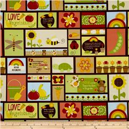 Springtime Garden Repeating Squares Multi