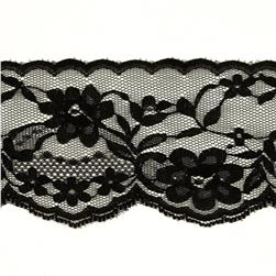 2-3/4'' Chantilly Lace Trim Black